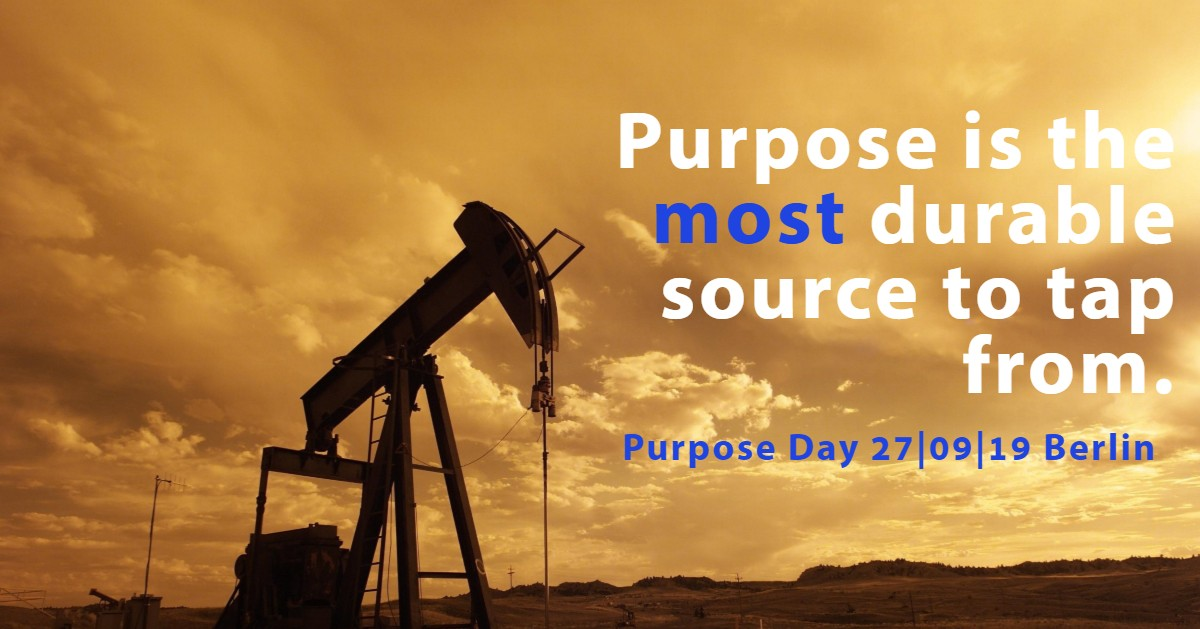 Purpose is the most durable source to tap from