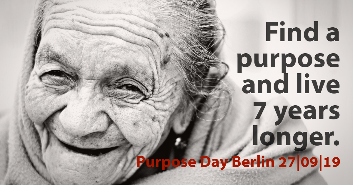 Find a purpose and live 7 years longer